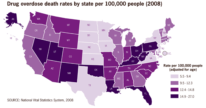 Drug Overdoses by State