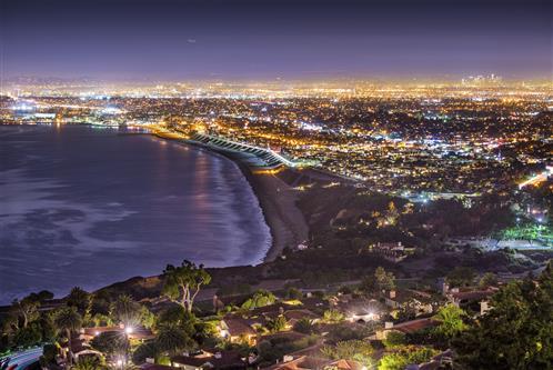 Night View of Near Sea