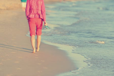 Woman walking Near Beach