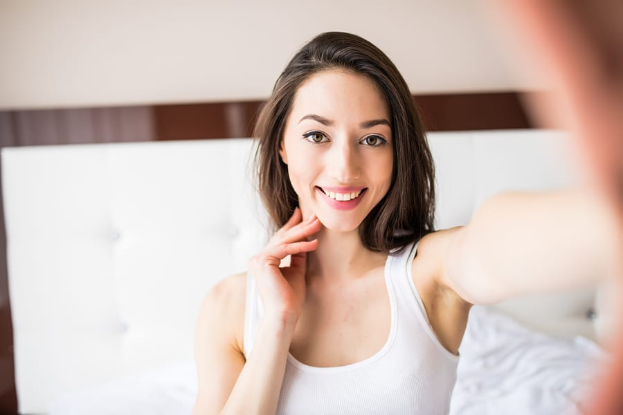 bigstock Beautiful Girl Making Selfie